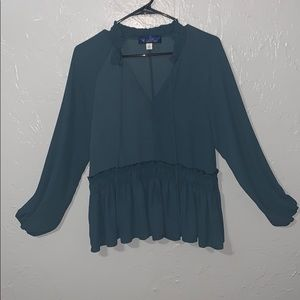 Long sleeve teal blouse!